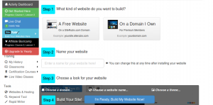 build a website steps