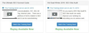 wealthy affiliate live video training