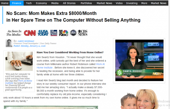 Work At Home Scam