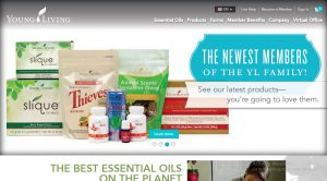young living essential oils website