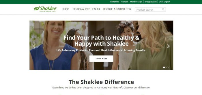 shaklee website