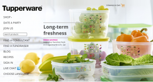 tupperware website