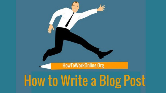 blog title graphic how to write a blog post