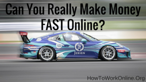 Blog title - Can You Really Make Money FAST Online?