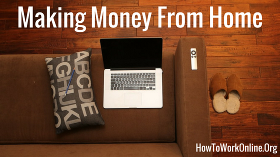 blog title making money from home on your laptop and couch