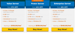 hostgator dedicated hosting plans