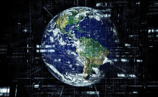 image of the earth and internet users have grown around the globe